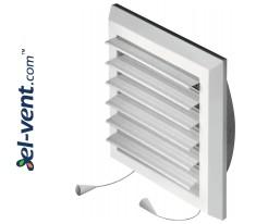 Plastikinės ventiliacijos grotelės reguliuojamos