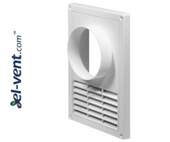 Ventilation grilles with outer flange