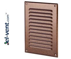 Metalinės ventiliacinės grotelės META4AN 165x240 mm
