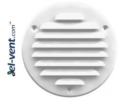 Metalinės ventiliacinės grotelės META16B Ø125 mm