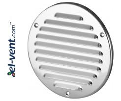 Stainless steel ventilation grille META16N Ø125 mm
