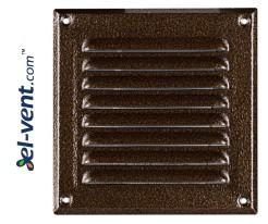 Metalinės ventiliacinės grotelės META2AN 165x165 mm