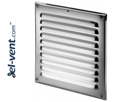 Stainless steel ventilation grille META6N 195x195 mm