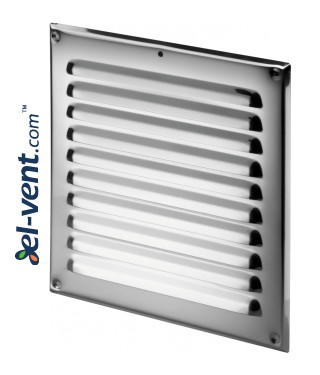 Stainless steel ventilation grille META2N 165x165 mm