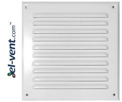 Metalinės ventiliacinės grotelės META6B 195x195 mm