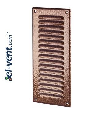 Metalinės ventiliacinės grotelės META12AN 125x295 mm