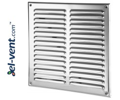 Stainless steel ventilation grille META10N 295x295 mm