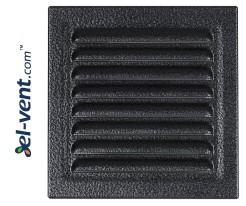 Metalinės ventiliacinės grotelės META6ANSR 195x195 mm