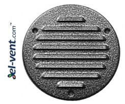 Metalinės ventiliacinės grotelės META16ANSR Ø125 mm