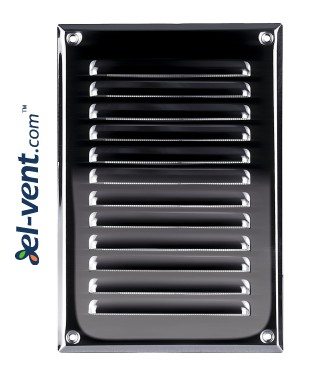 Stainless steel ventilation grille META4N 165x240 mm
