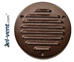 Metalinės ventiliacinės grotelės META14AN Ø100 mm