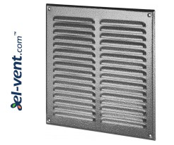 Metal vent cover META10ANSR 295x295 mm
