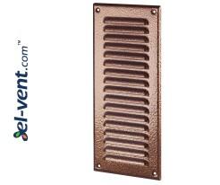 Metal vent cover META12AN 125x295 mm