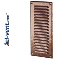 Metal vent cover META12AN 125x295 mm