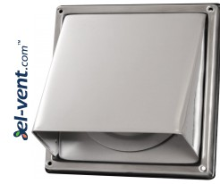 Stainless steel vent cover with backdraft stopper EGLN100, Ø100 mm