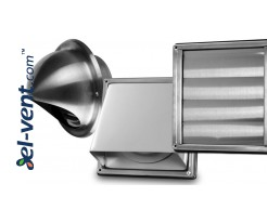 Exhaust air vent covers from stainless steel