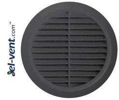 Ventilation grille GRT36GR, Ø100-150/180 mm