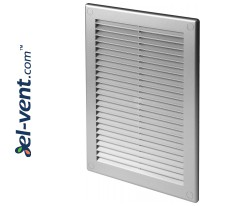 Vent cover GRU4SS 180x250 mm (grey satin)