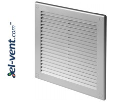 Vent cover GRU6SS, 200x200 mm (grey satin)