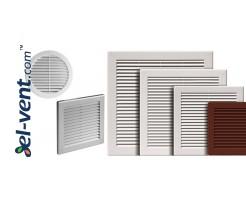 Plastikinės ventiliacijos grotelės
