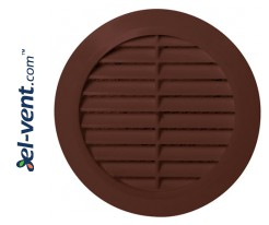 Vent cover GRU14K/BR, Ø100 mm (brown)