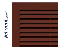 Vent cover GRU4BR 180x250 mm (brown)