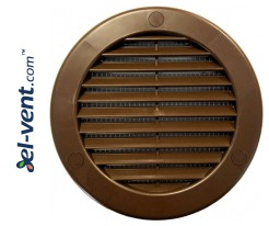 Vent cover  Ø100 mm, GRU14K/BR (brown)