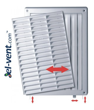 Ventilation grille with shutter GRT59A, 235x165 mm - image