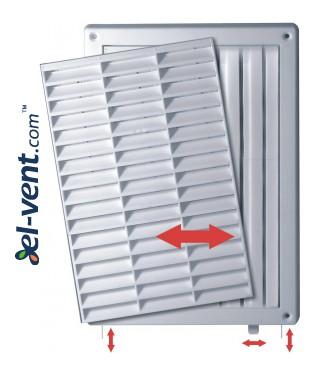 Вентиляционная решетка с заслонкой GRT59A, 235x165 мм - изображение 2