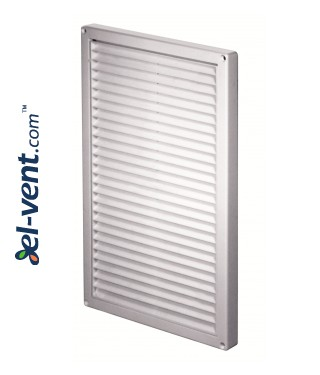 Ventilation grille with shutter GRT85, 220x340 mm