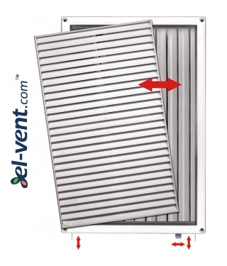 Ventilation grille with shutter GRT85, 220x340 mm - image