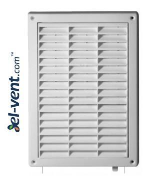 Ventilation grille with shutter GRT59A, 235x165 mm