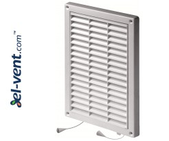 Vent cover with shutter GRT59A, 235x165 mm