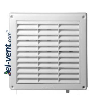 Ventilation grille with shutter GRT55, 165x165 mm, Ø100 mm - image