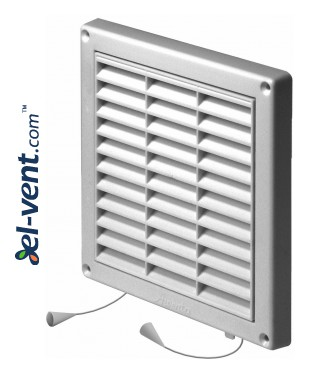 Ventilation grille with shutter GRT43A, 165x165 mm