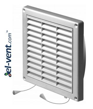 Вентиляционная решетка с заслонкой GRT55, 165x165 мм, Ø100 мм