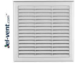 Ventilation grille with shutter GRTK10, 190x190 mm, Ø100 mm