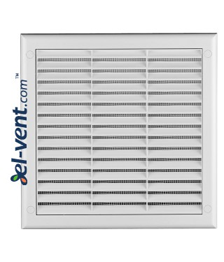 Ventilation grille with shutter GRTK2, 190x190 mm