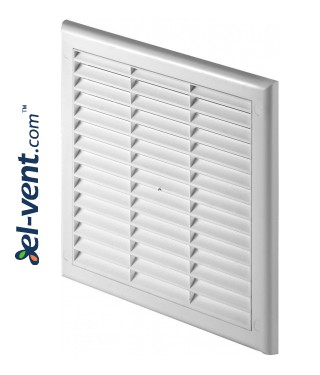 Ventilation grille with shutter GRTK12, 190x190 mm, Ø125 mm, 3