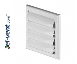Gravity louvers GRTN1, 190x190 mm