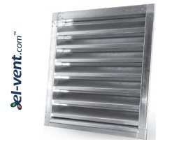 Wall vent grilles galvanized V-Zn