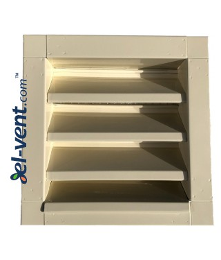 Outdoor vent covers galvanized 250x250 mm painted in RAL1015