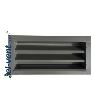 Outdoor vent covers galvanized 500x200 mm painted in RAL7022