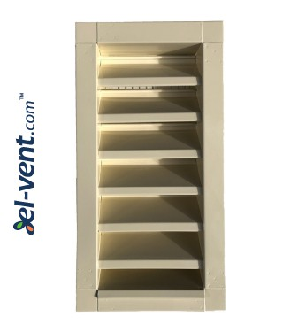 Outdoor vent covers galvanized 200x450 mm painted in RAL1015
