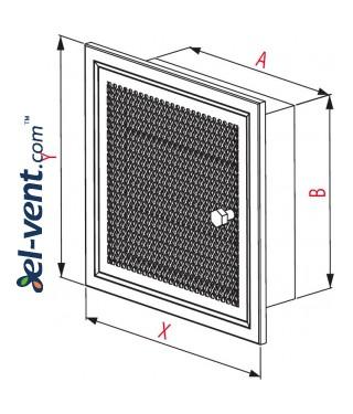 Fireplace grate MK4B 266x166 mm - drawing