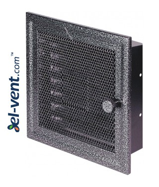 Fireplace grate MK1ANSR 166x166 mm with shutter