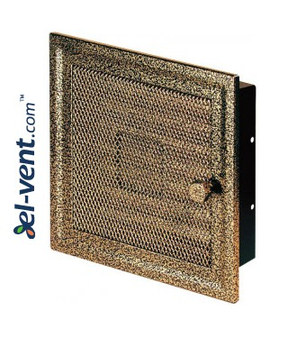 Fireplace grate MK1ANZL 166x166 mm with shutter