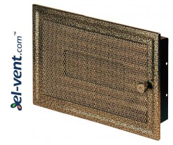 Fireplace grate MK3ANZL 266x166 mm with shutter