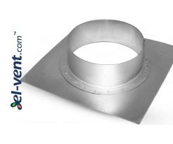 Mounting plate TPL125/180, Ø125 mm, 180x180 mm