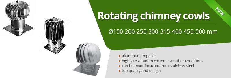 Rotating chimney cowls